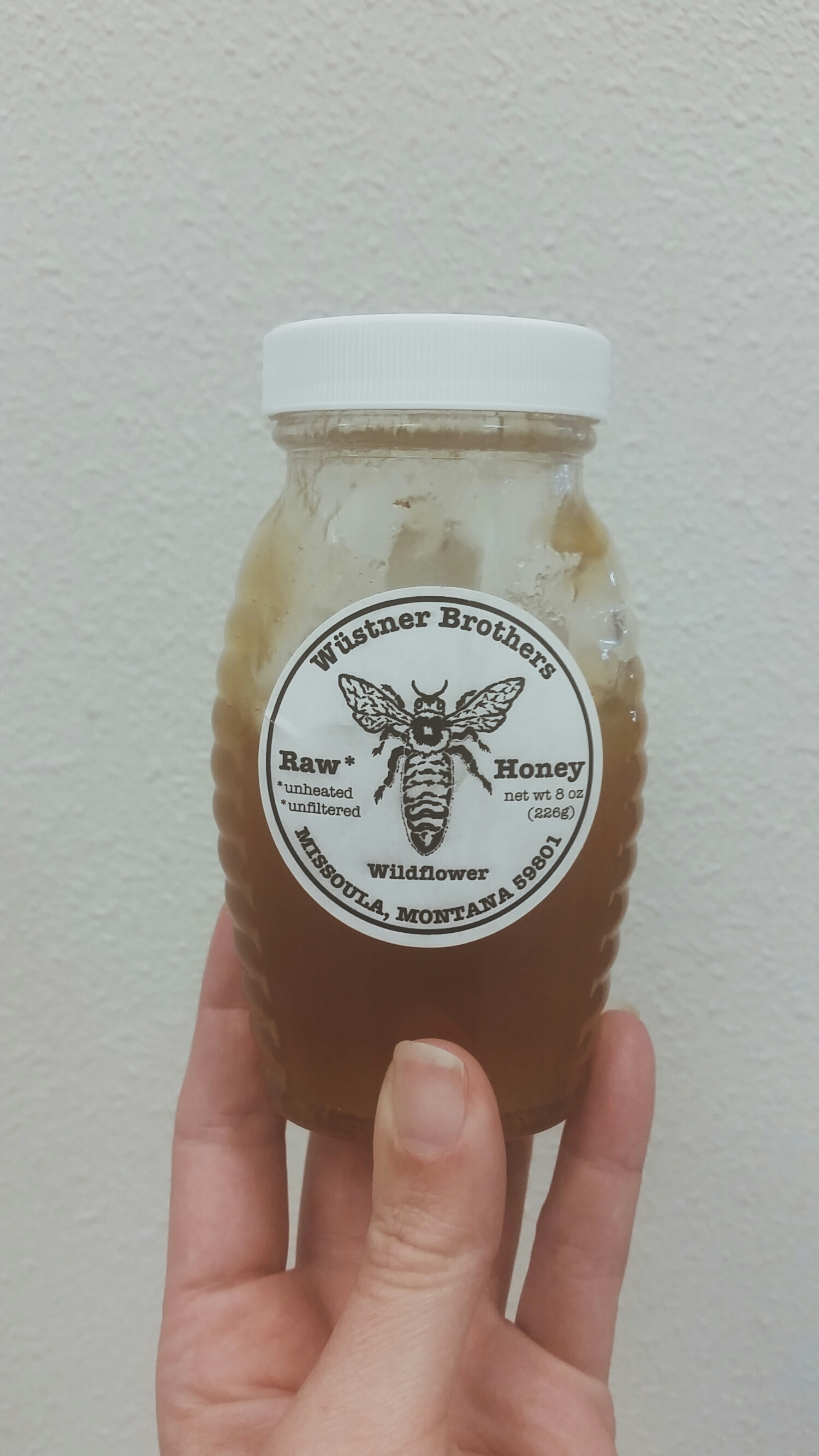 I've managed to go through half of my jar in a little over a week, & it is quite possibly the best honey I've ever had.