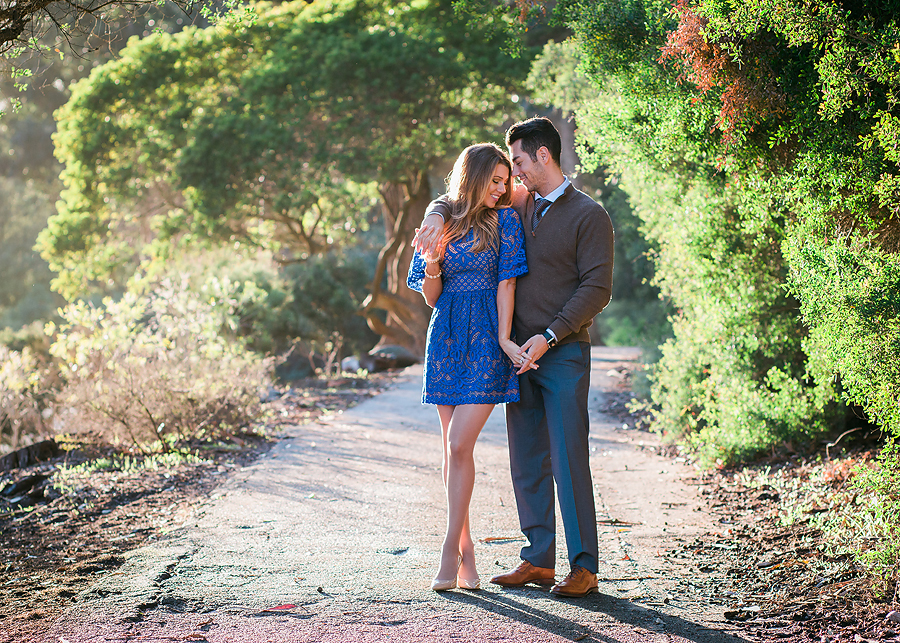This blue dress made a great statement at Anna and Luca's engagement session at Golden Gate Park in San Francisco!