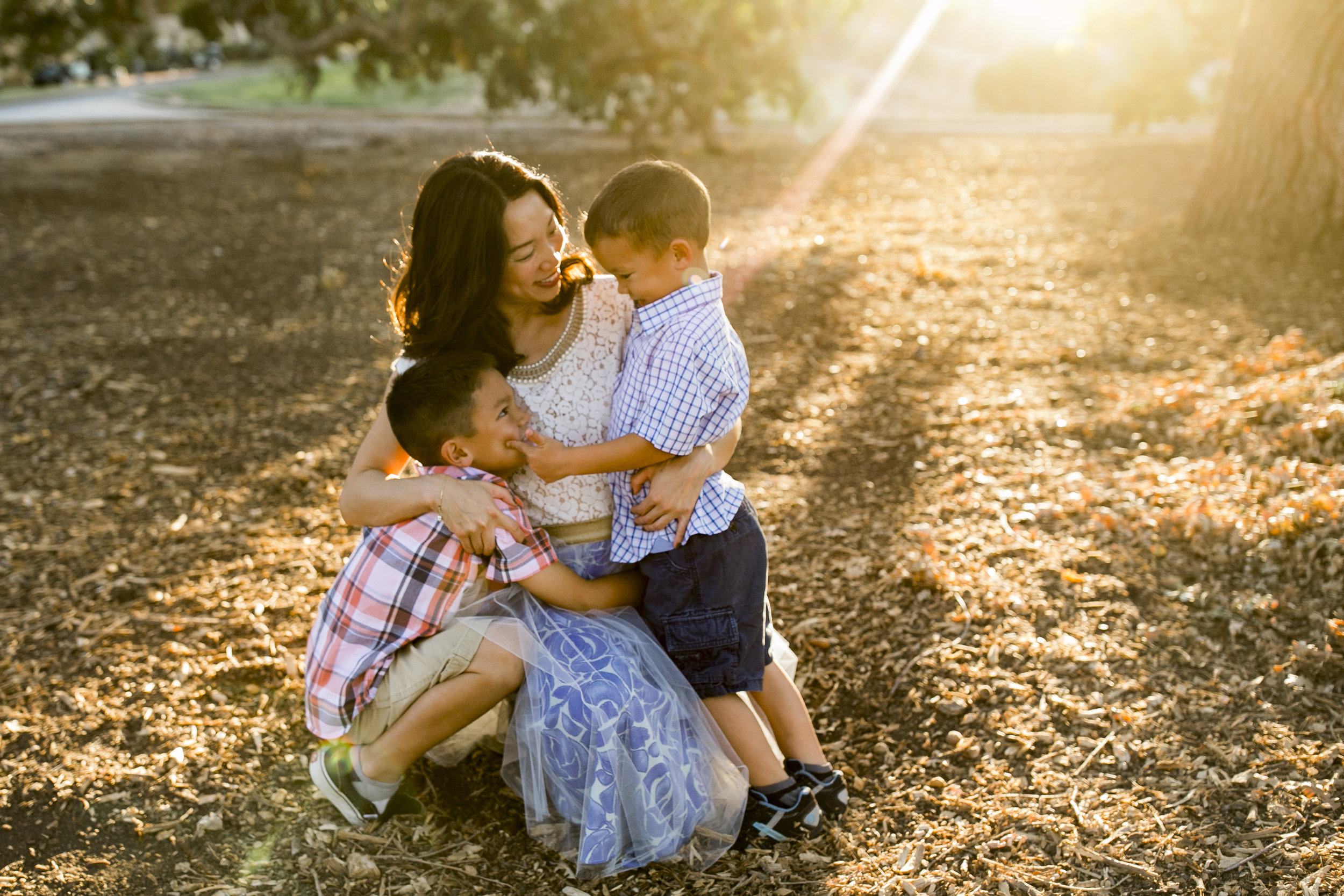 Bre Thurston Photography | San Francisco Bay Area Family Photographer | Outdoors on location with mom and her two sweet boys
