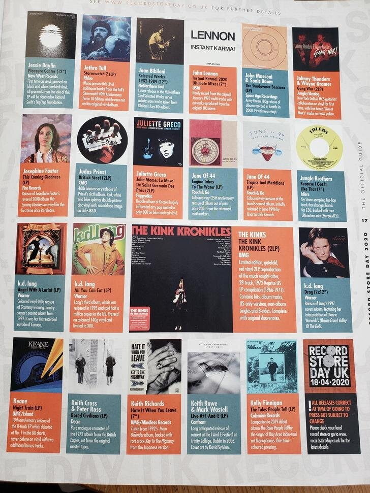foto de Record Store Day 2020 List: RSD Release — Sell Your Vinyl at ...