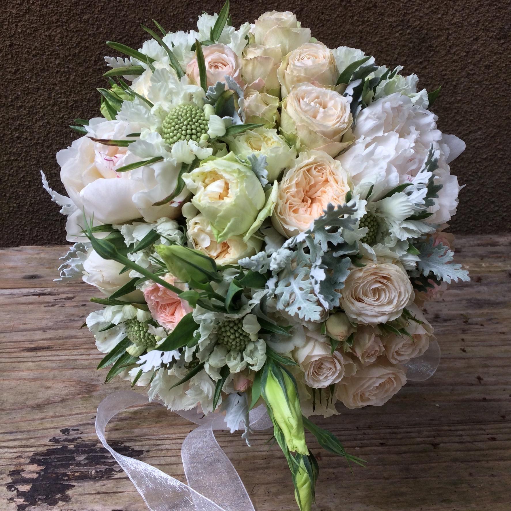 Bridal bouquet, DavidAusten:Peoony:Scabiosa.jpeg