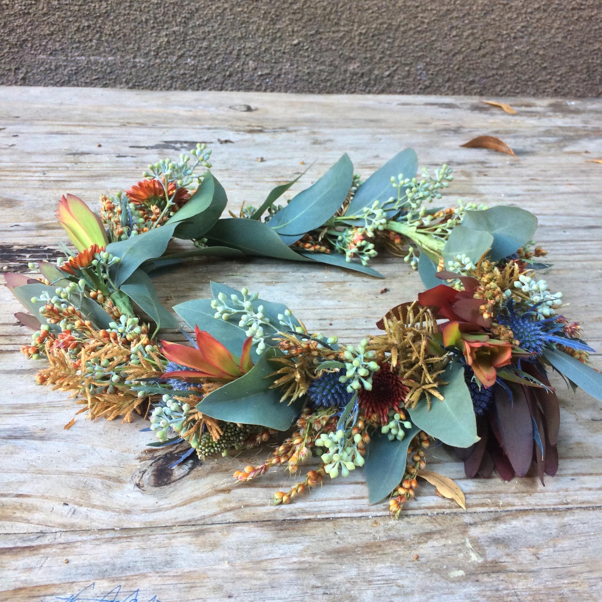Flower Crown, Autumn Leucadendron.jpeg