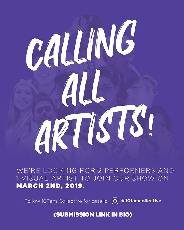 Submissions are open NOW! Enter for a chance to share your talents/art with us! Tag a friend in the comments below if you think they should enter! 😎😎😎😎