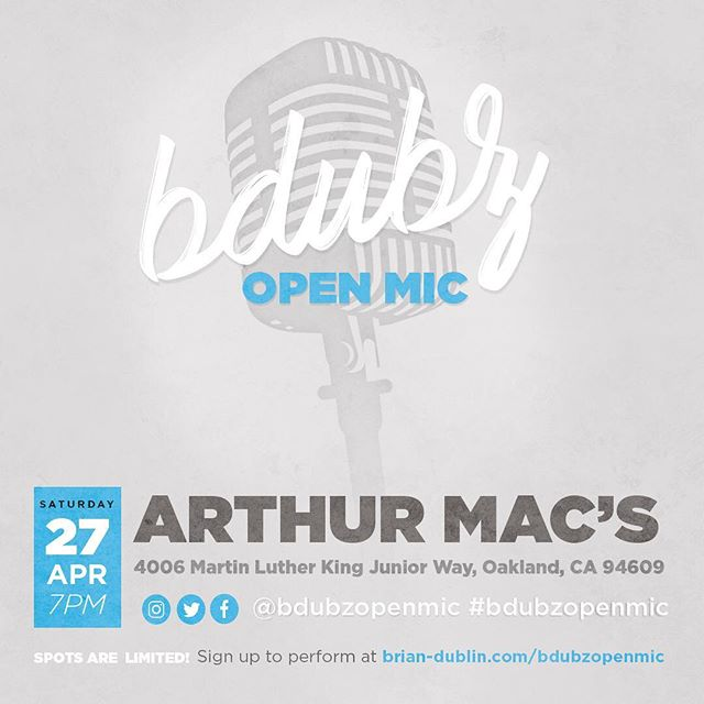 This month will be my first time hosting an open mic in Oakland!! ☺️🙏🏻  Hope all my East Bay and North Bay peeps can come through!!  Sign ups are open now!! (link in bio)