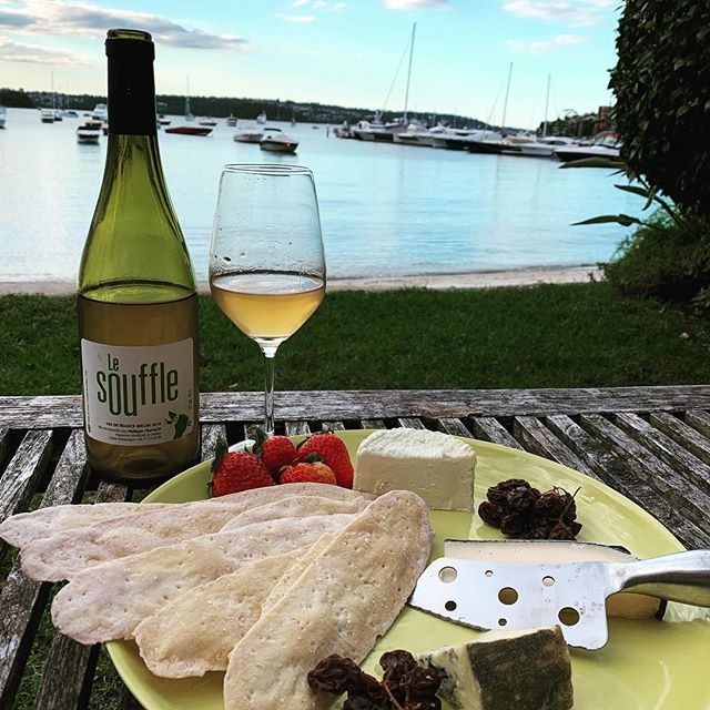 The perfect combination... beautiful wine, amazing cheese, that view and the best company.... thank you @asaphoffy always a pleasure👌❤️ #sydney #homesweethome #friends #foodporn #wino #wineandcheese #sydneyharbour