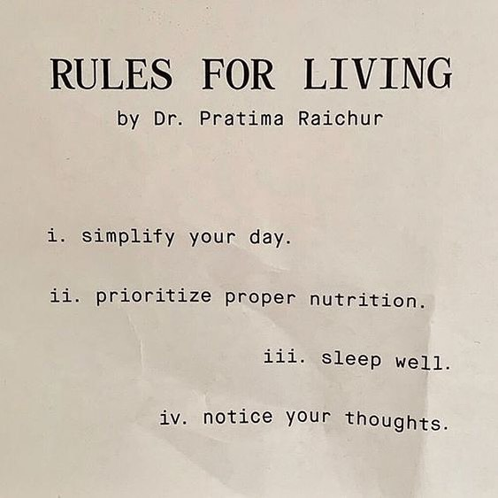 {rules for living} 🌿 #thesoulcollect