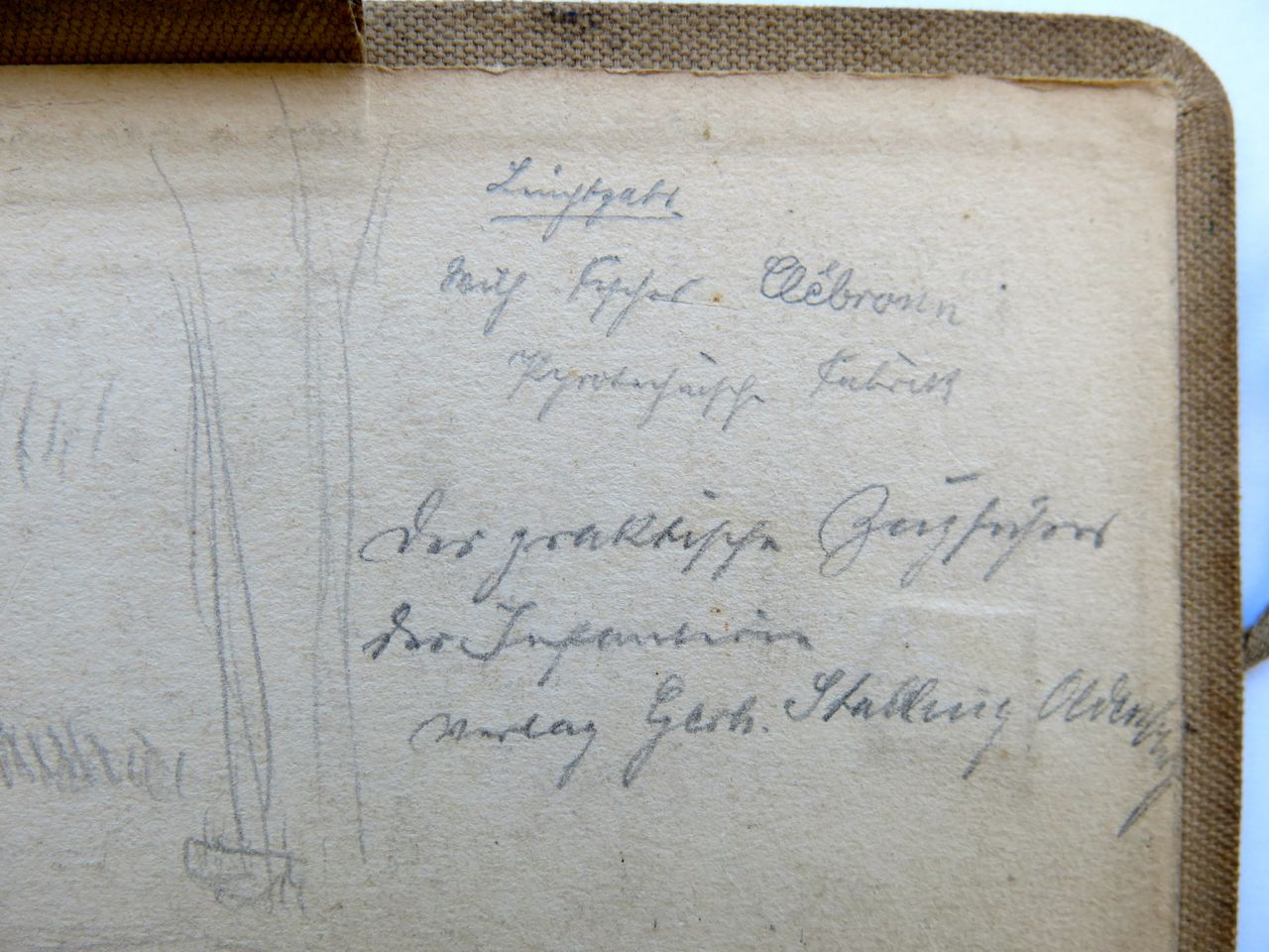 Kolling's inscription inside the back cover.