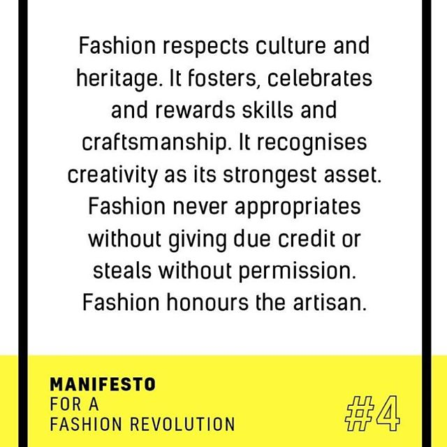 We agree @fash_rev 🙌  At @nightingale.collective we also want to encourage a more conscious consumer, one who knows and cares where the product they buy is made and the stories behind the people who made it. We believe ethics and style do not need to be mutually exclusive ✌️🌏 . #socialchange #fashionrevolution #manifesto #whomademyclothes #ethicalfashion #slowfashion #socialenterprise #fairfashion #ecoage #howitsmadematters #purchasewithpurpose