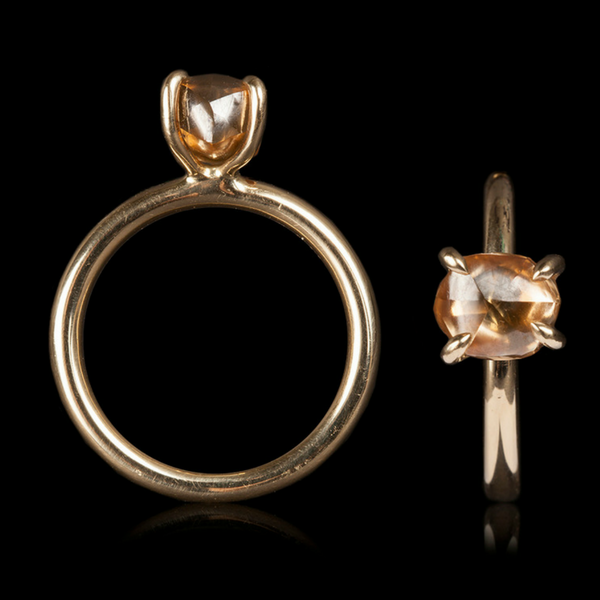 2.90 ct. Natural Fancy Orange Brown Rough Diamond in 14K Handcrafted Gold Ring.png