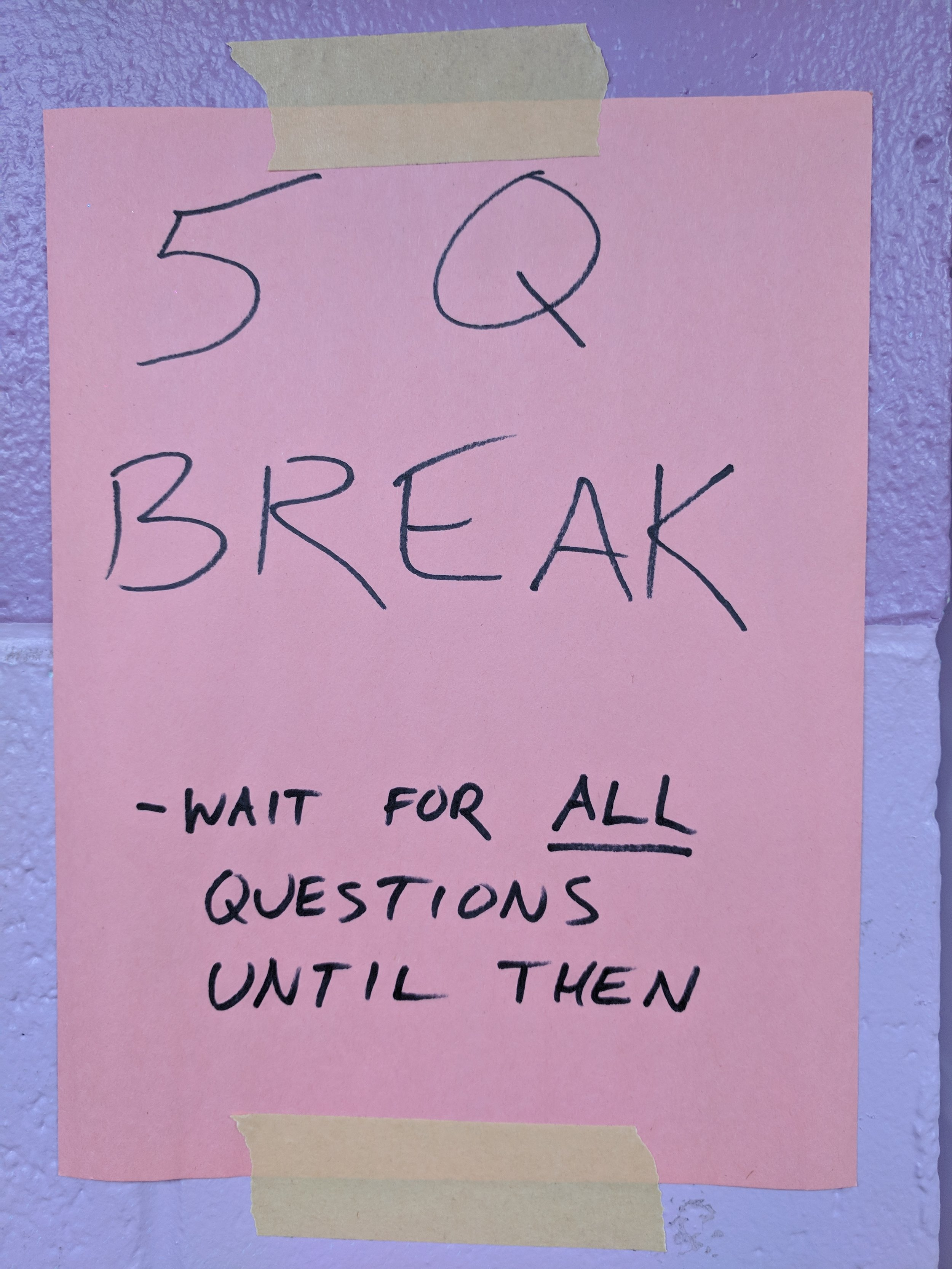 Post in front of your classroom or group space