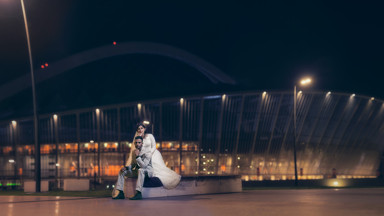 Reservoir hills islamic centre muslim bride and groom moses mabhida portrait creative shoot