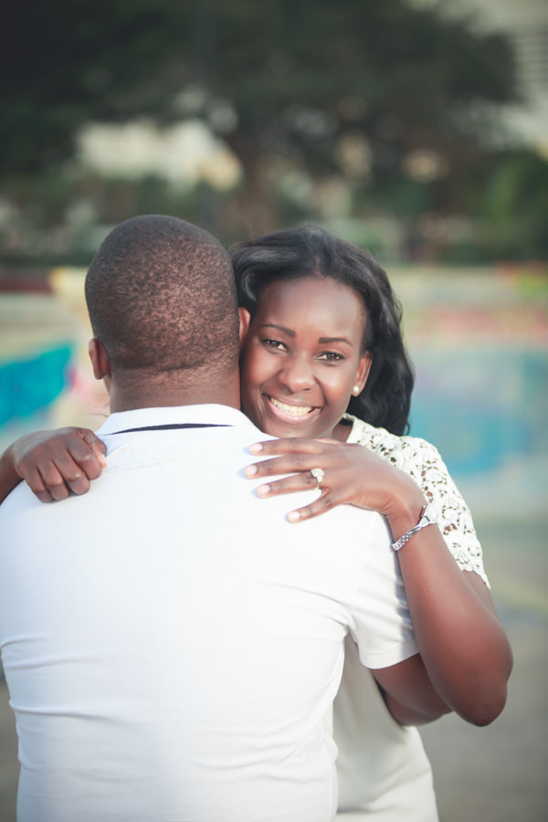 durban photography engagement hugging on beach african