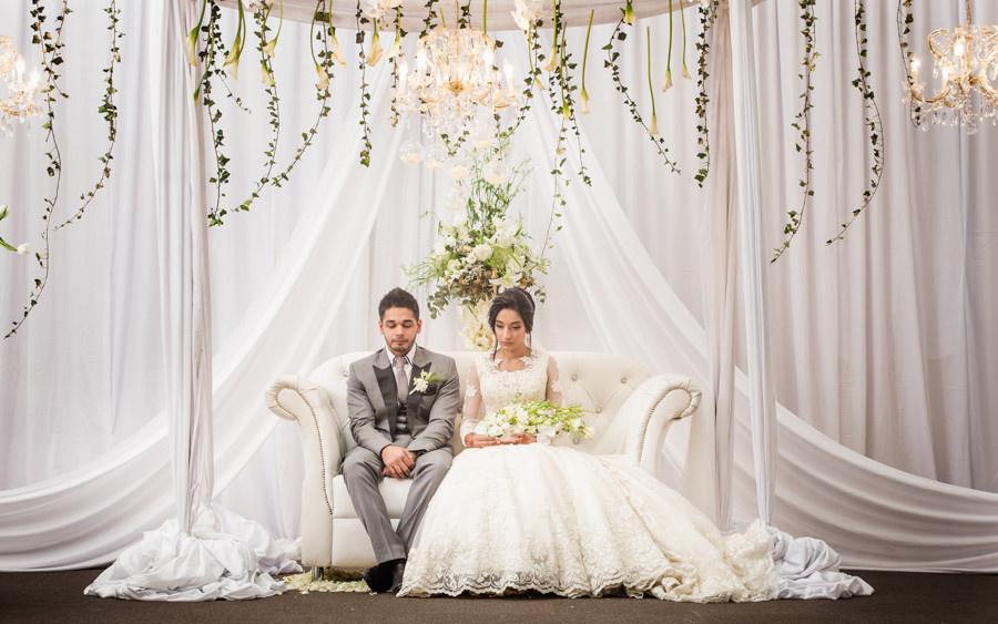 muslim bride with groom on stage durban islamic