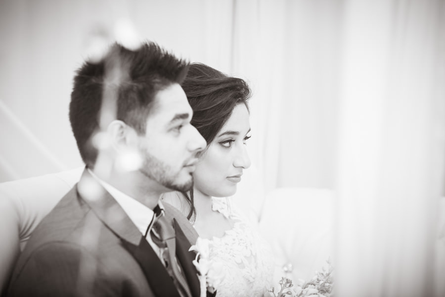 muslim bride with groom on stage black & white durban islamic