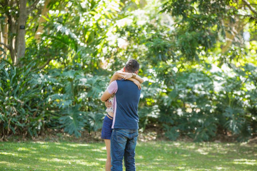 botanic gardens engagement proposal rbadal photography durban hugging