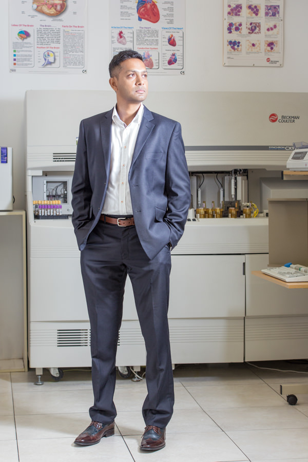 ceo portrait shoot durban rbadal photography standing in lab