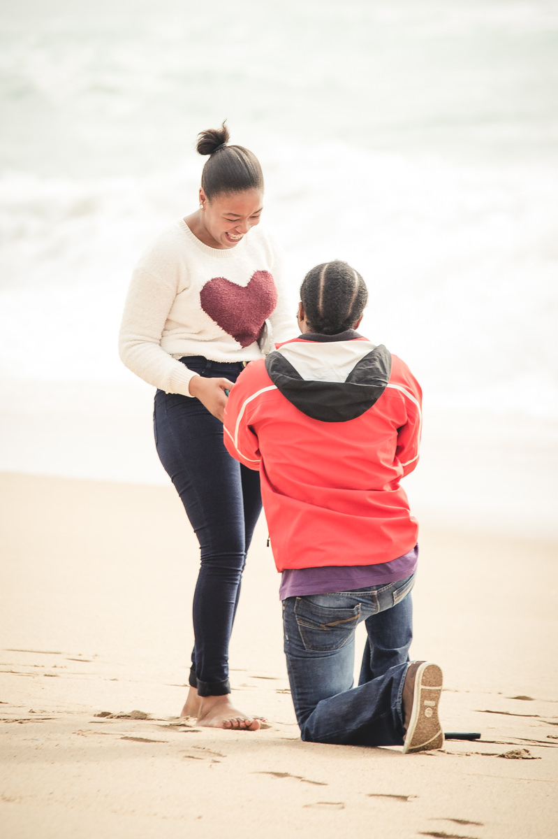 Durban La Lucia Engagement Proposal Rbadal Photography on one knee