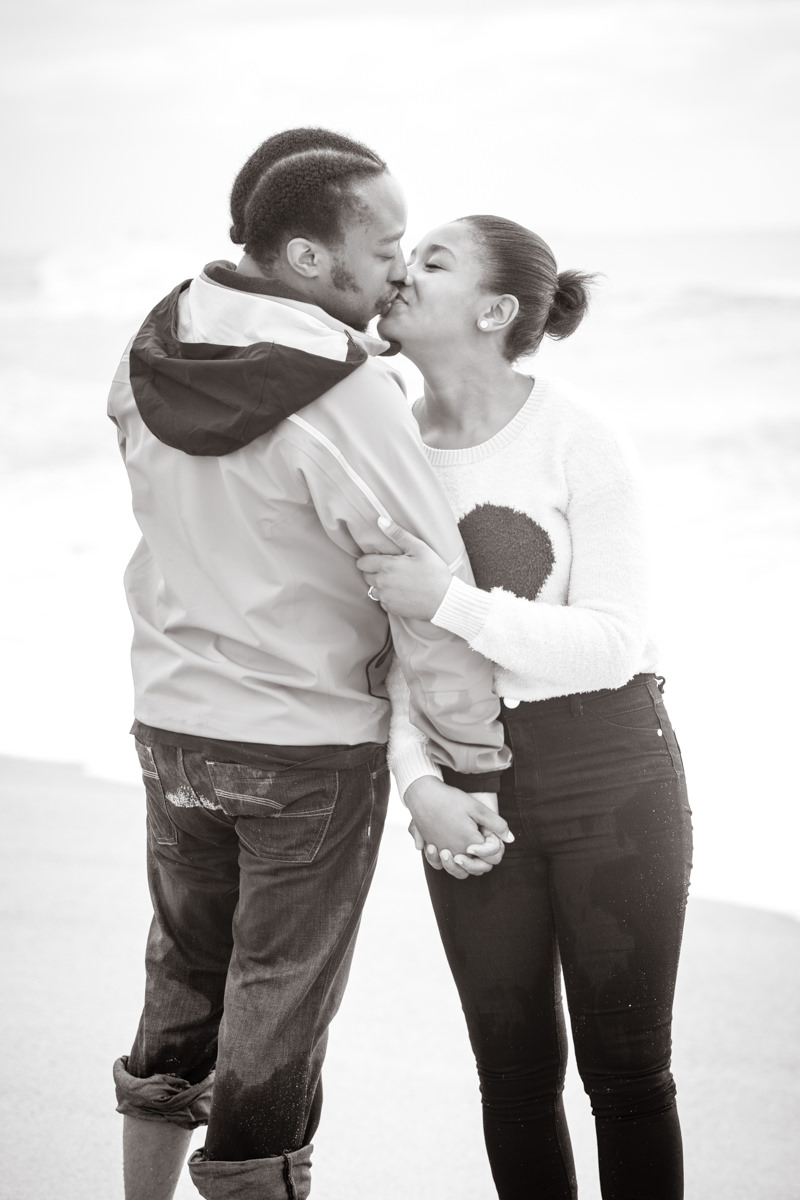 Durban La Lucia Engagement Proposal Rbadal Photography couple kissing