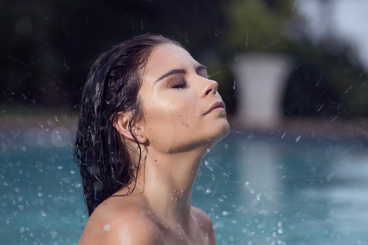 girl model in pool umhlanga durban rbadal photography