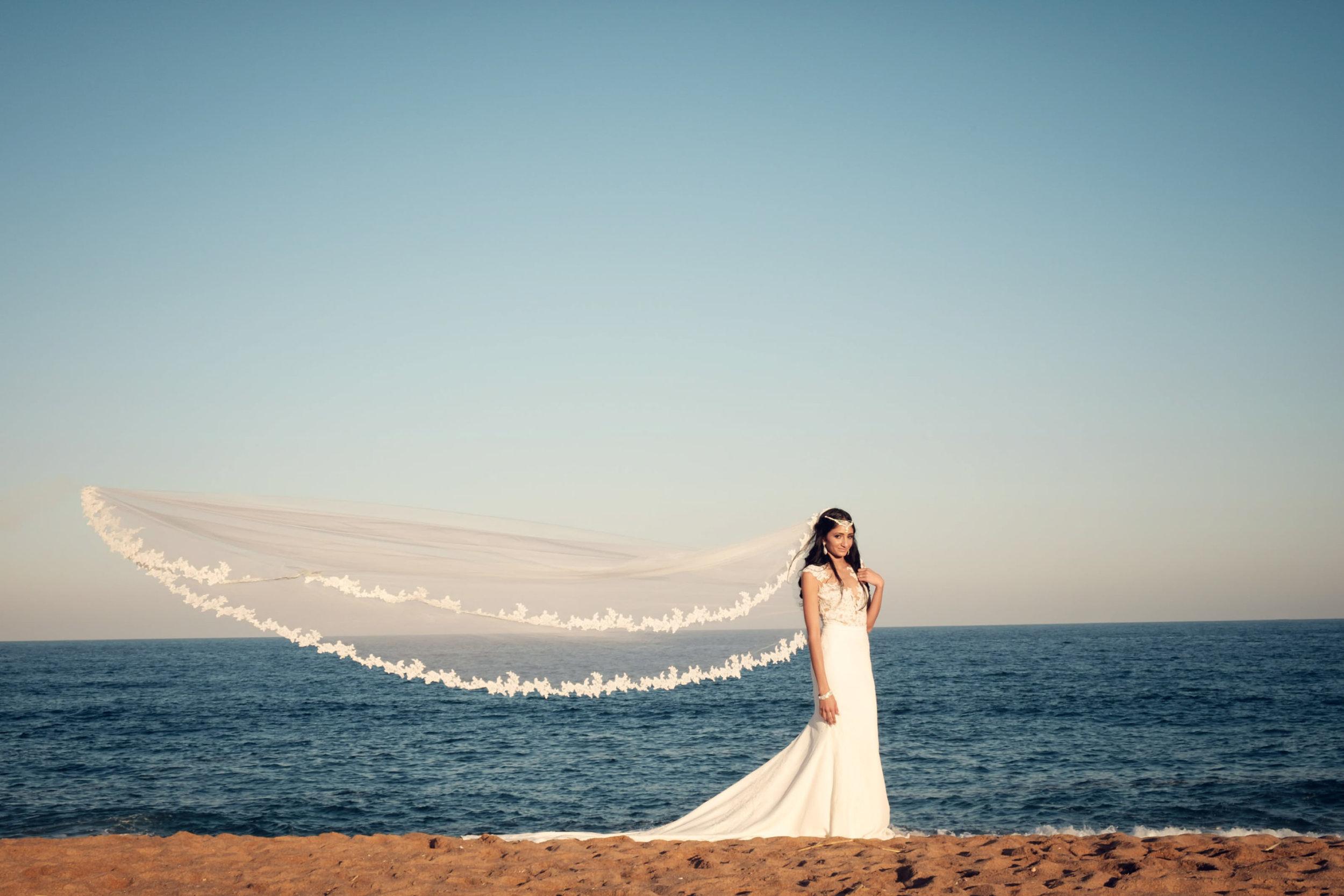 Zimbali Ballito Wedding Photography RBadal beach ceremony bridal portrait