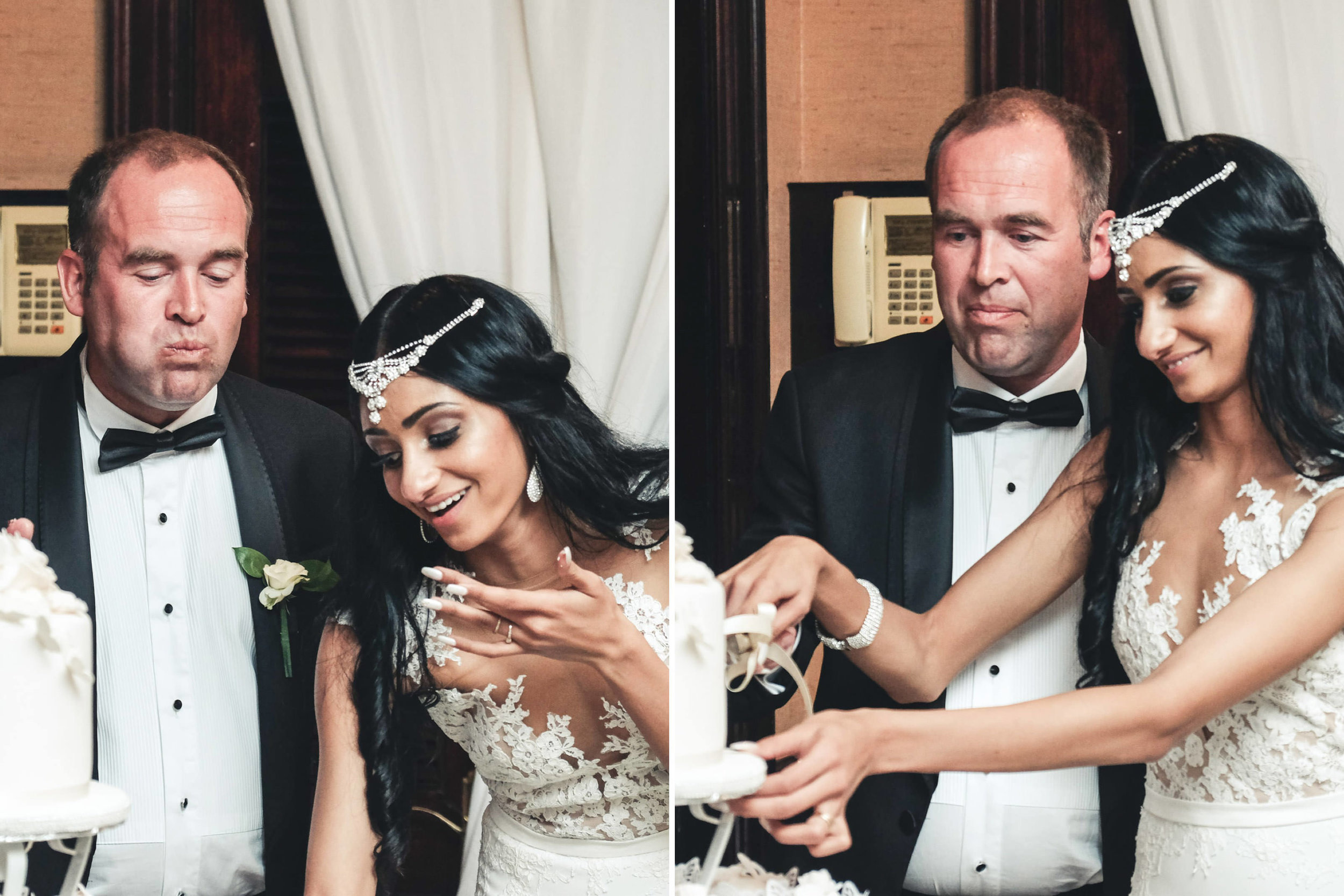 Zimbali Ballito Wedding Photography RBadal reception cutting cake