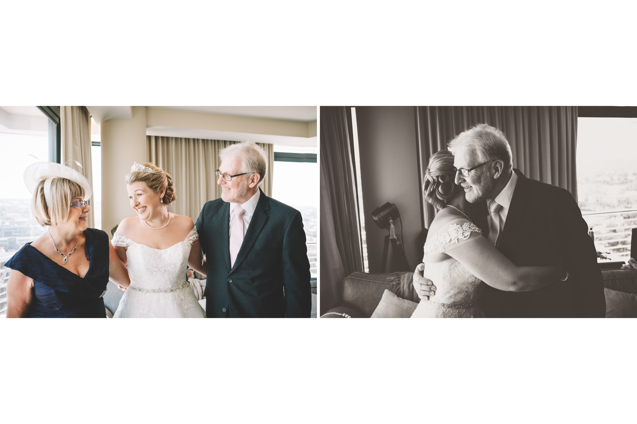 Mount Edgecombe Wedding Photography RBadal bride with parents