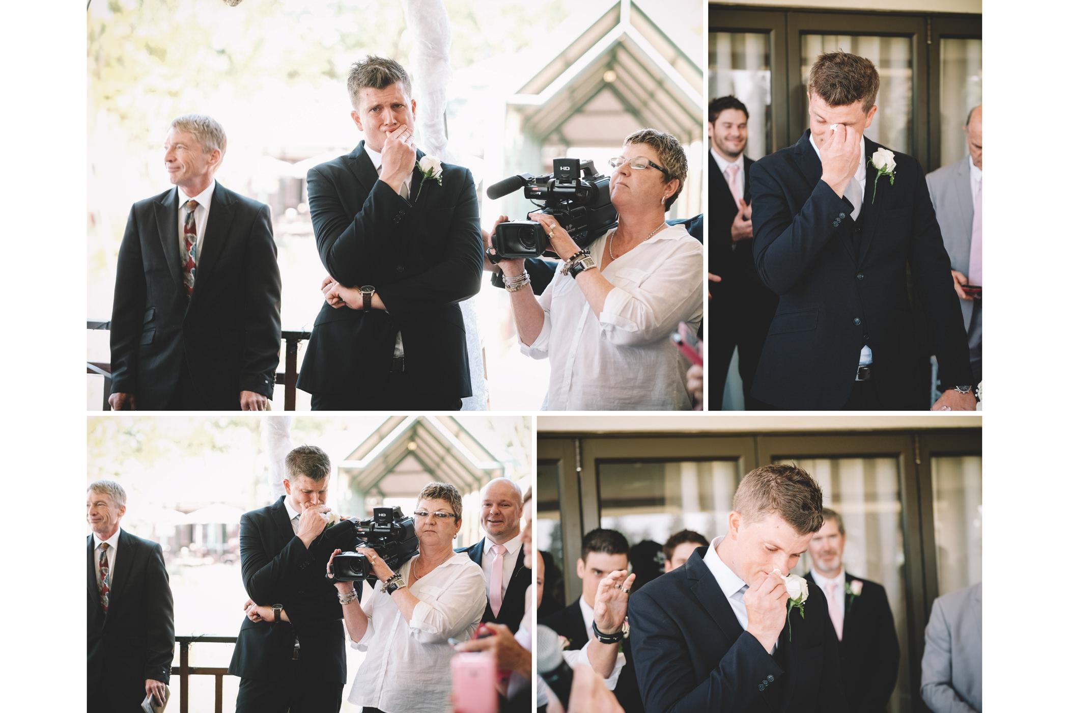 Mount Edgecombe Wedding Photography RBadal emotional groom