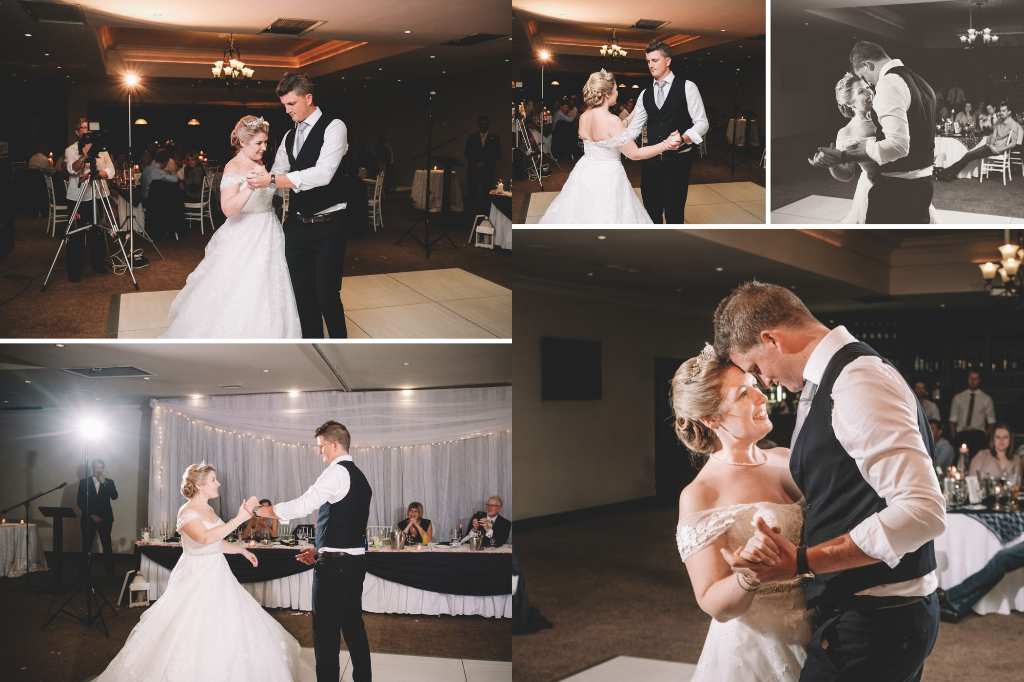 Mount Edgecombe Wedding Photography RBadal golf course bride and groom first dance