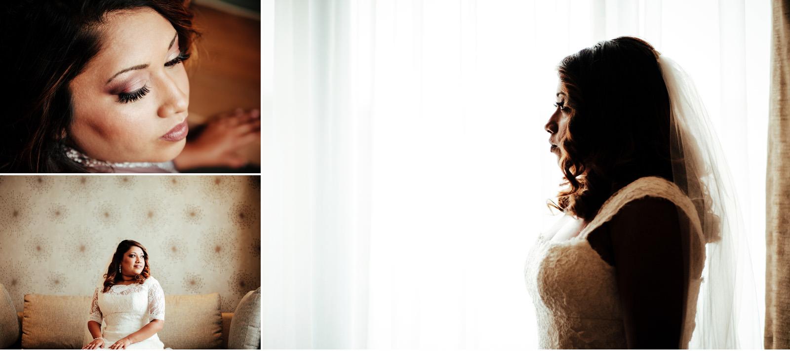 Mt Edgecombe Country Club Durban Wedding RBadal Bride getting ready