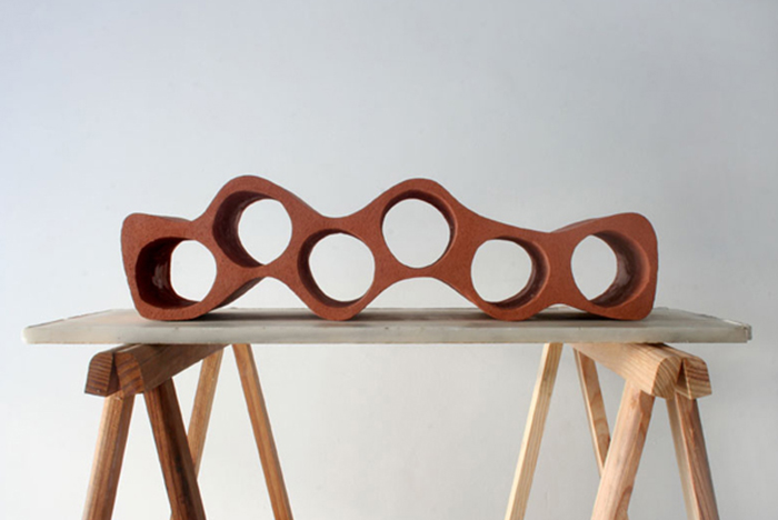 OTTO, by designer Ramirez i Carillo uses computer – generated geometry to create this modular wine rack.