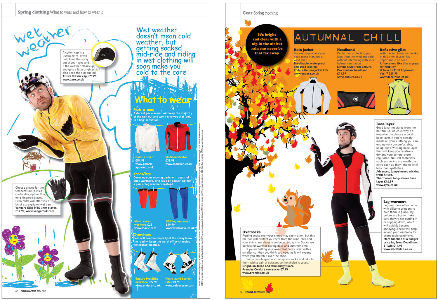 Designing cycle clothing guides several times a year requires a lot of fresh ideas, sometimes I chose to use my illustration skills in conjunction with a studio shoot.