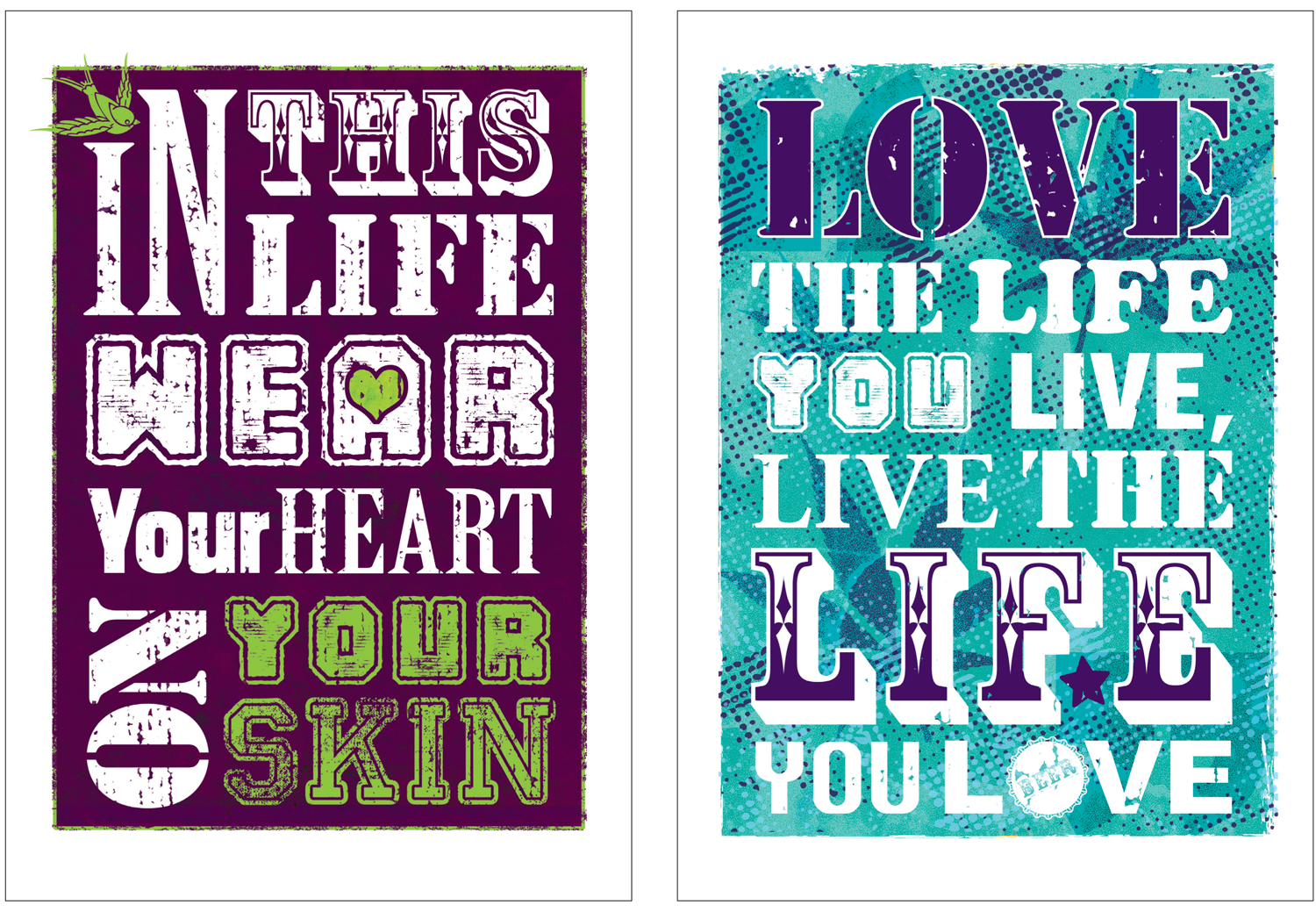 Typography prints for gifts and to sell in local shops