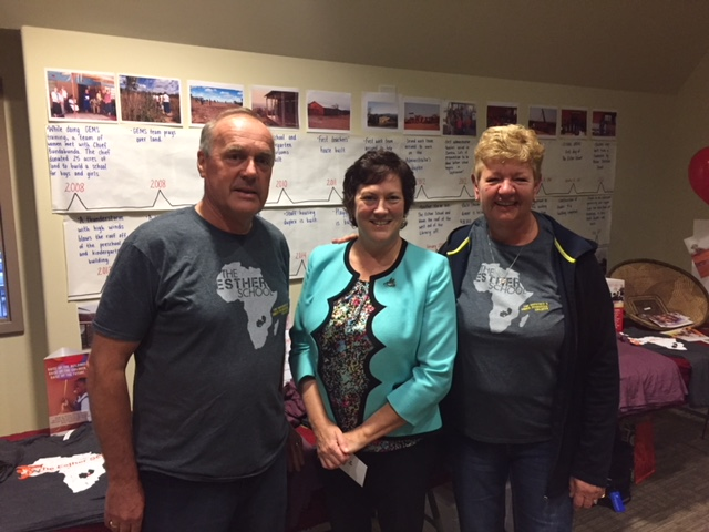Thank you to all who helped organize this fun night! Here's our Executive Director with Ralph and Irene Drost
