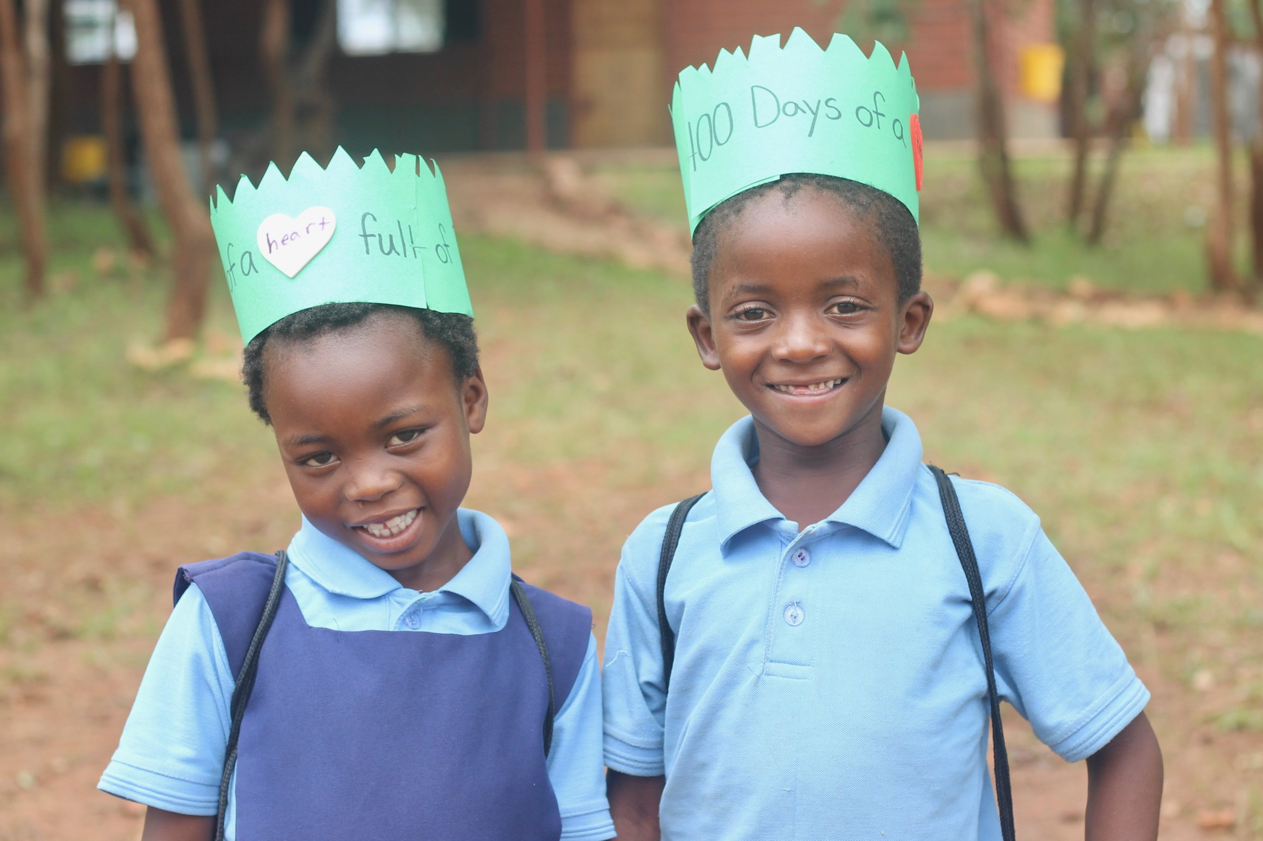 Some classes made 100s day crowns to show their excitement.