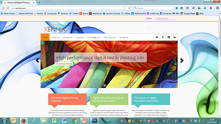 Xennia 2013-2015 Website Main Page