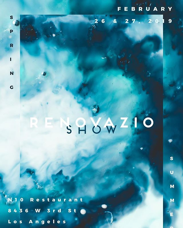 Save the date for our next event in L.A. ✯ February 26th and 27th ✯ The Party 26th from 6pm ✯ at N10 @n10restaurant  @n10restaurant  @renovazionyc  #renovazioshowlosangeles #renovvazioshow #renovazio