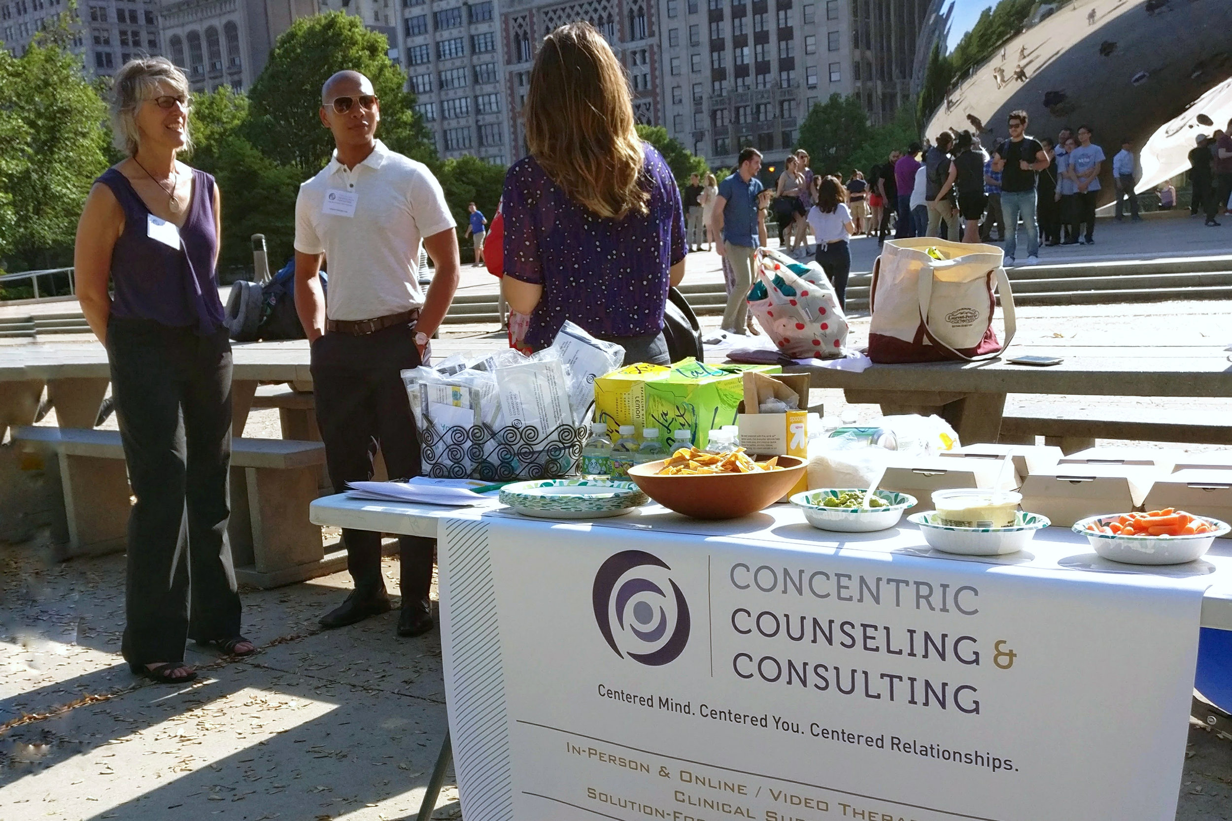 Concentric Counseling & Consulting Therapists On The Table Millennium Park Chicago