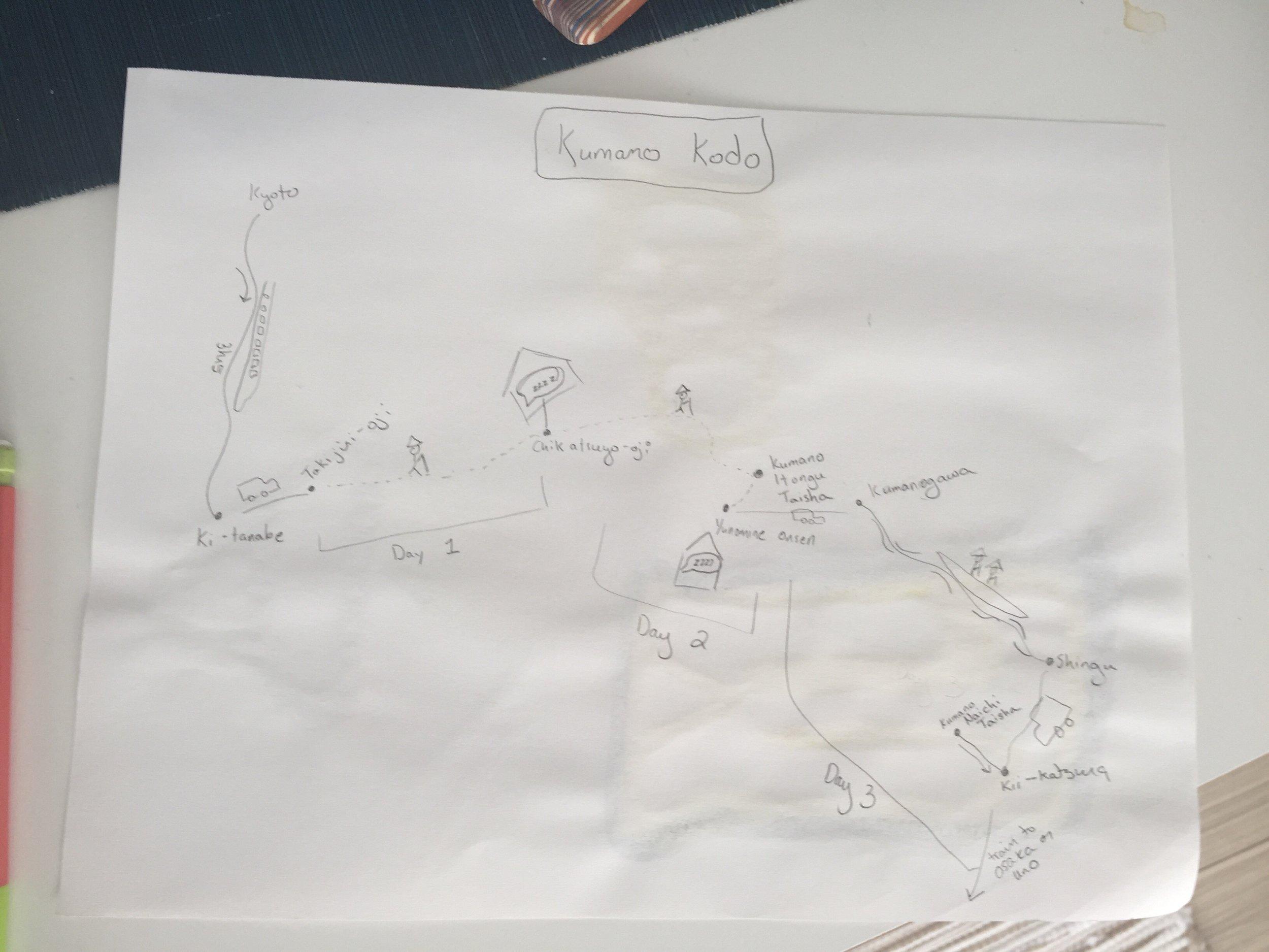 Kumano Kodo Itinerary