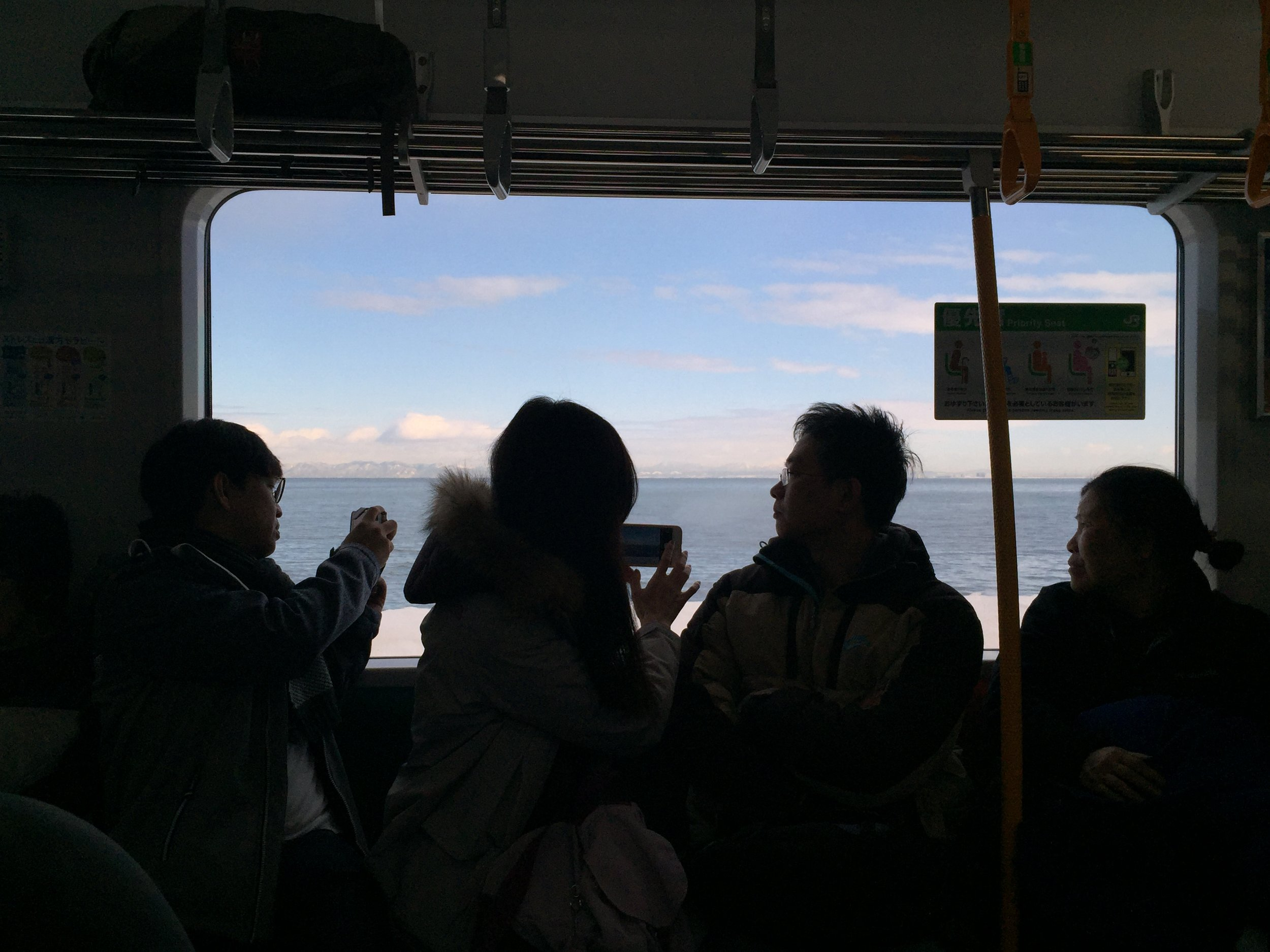 Scenic train from Sapporo to Otaru.