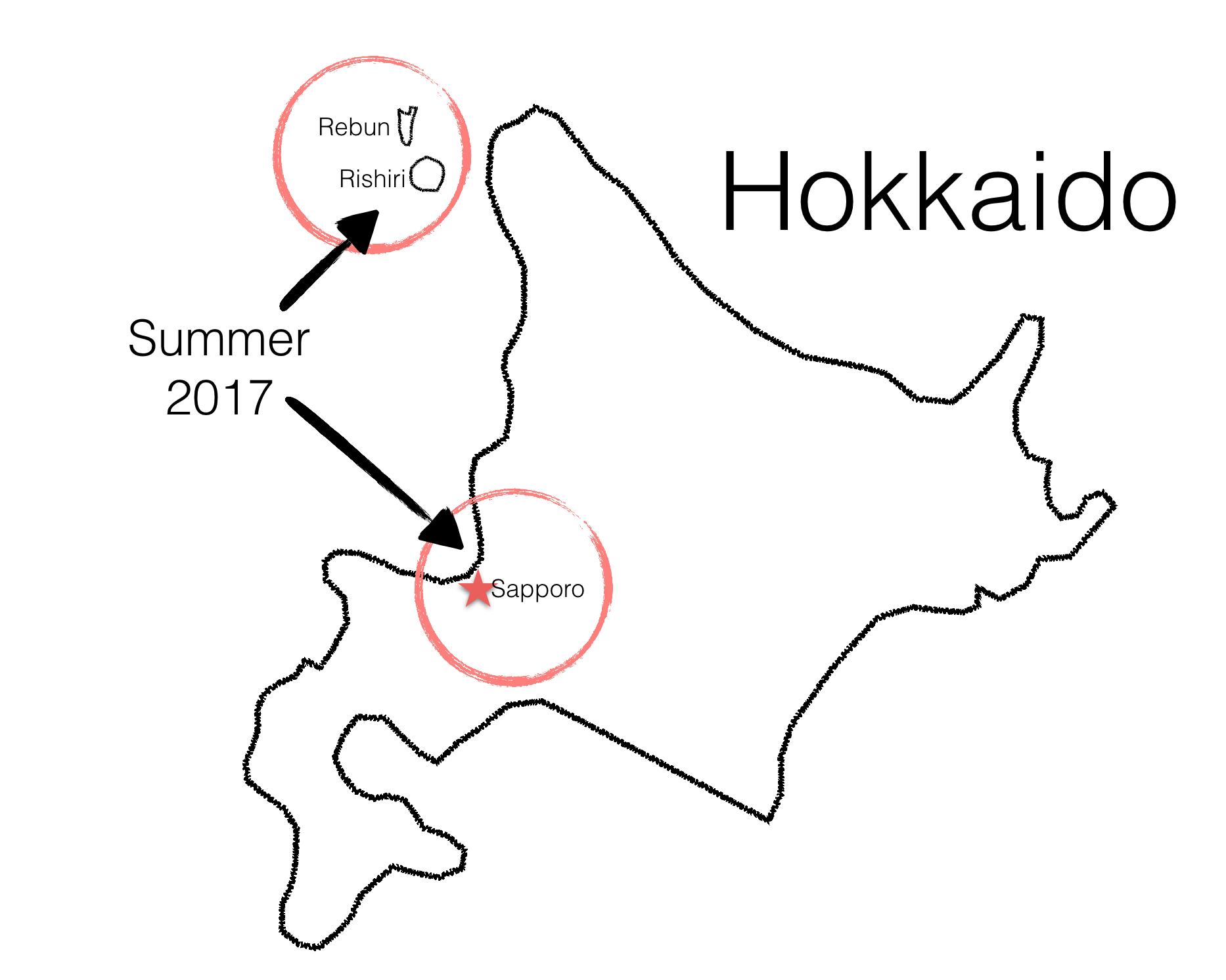 Summer_Hokkaido_Sapporo_Rishiri_Map