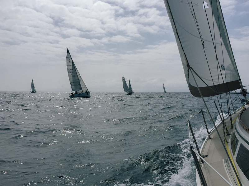just after the start