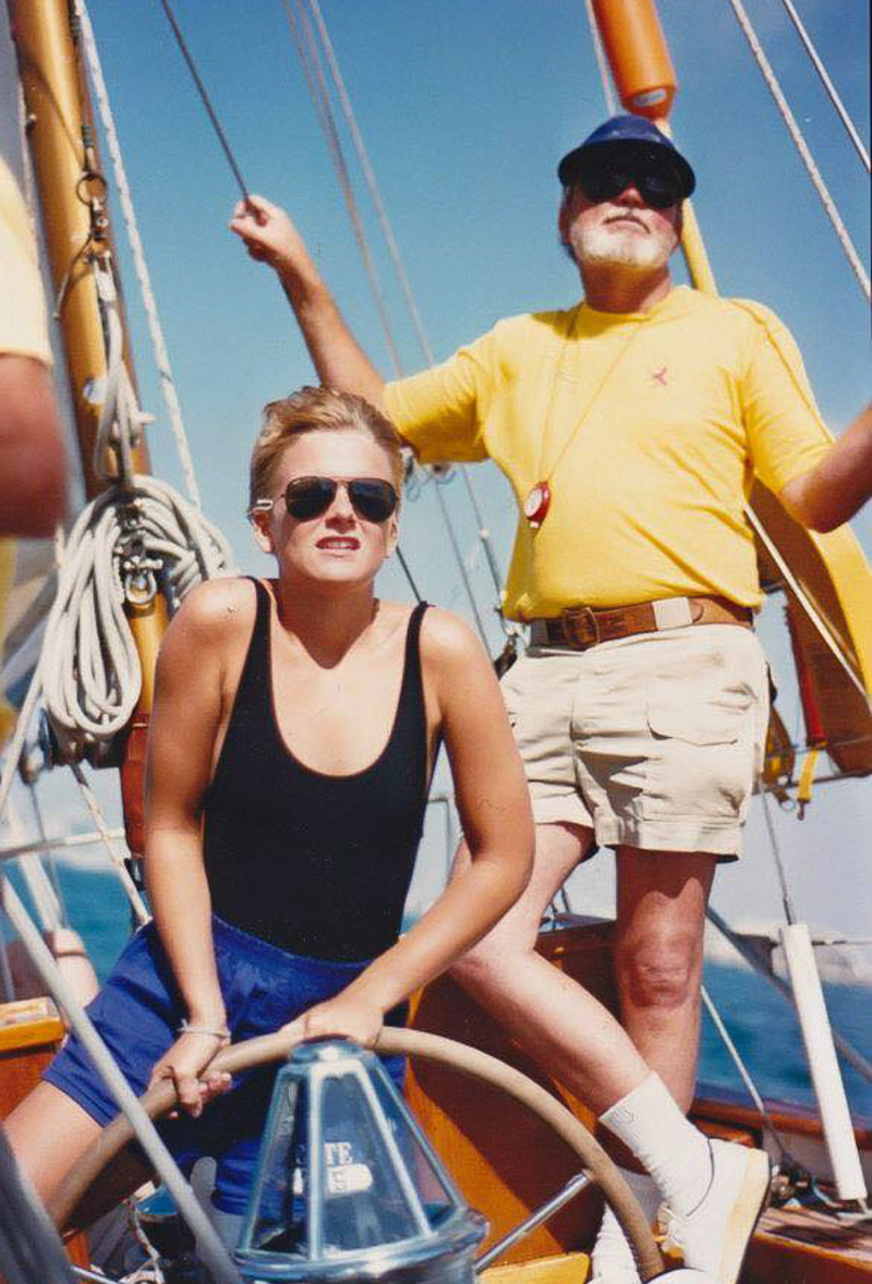 Dad and me aboard Scottish Fantasy II, 1987