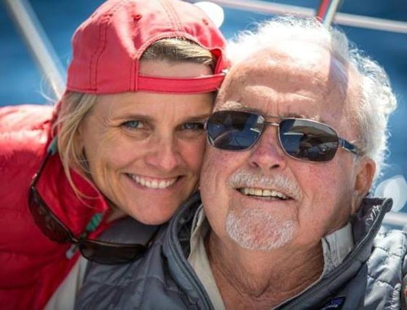 Dad and me aboard Haunani, 2014