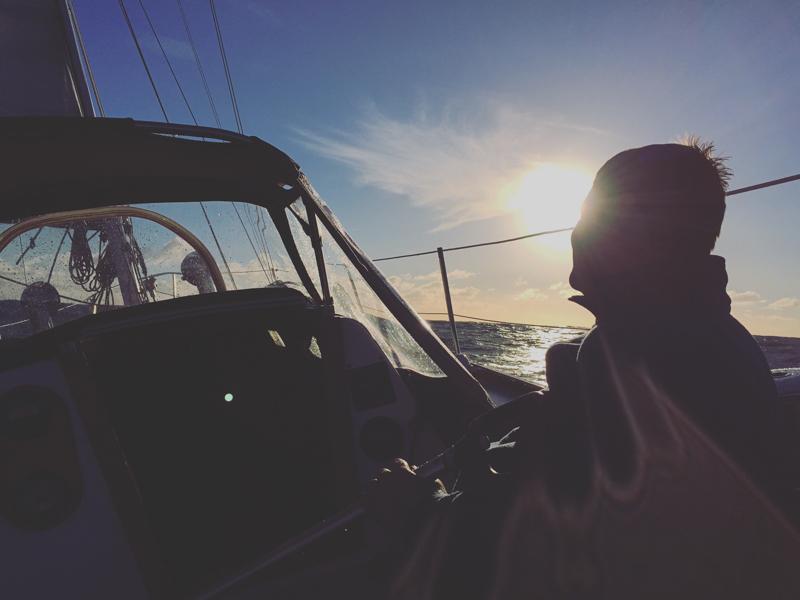 Thomas aboard his beautiful Cal 36, Runaway Blues