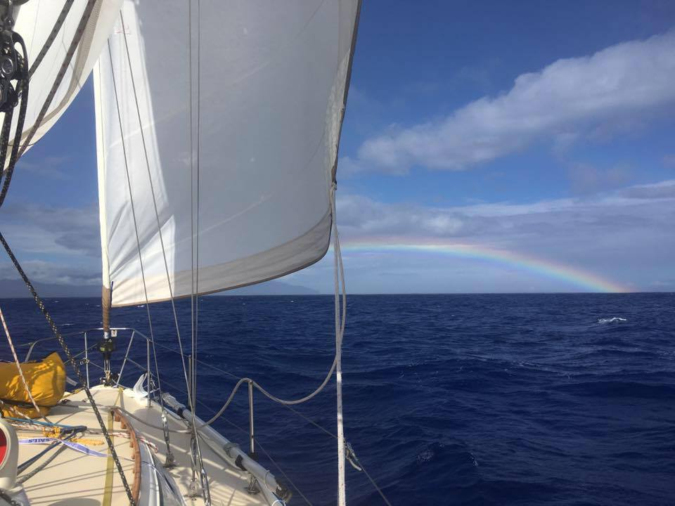 A beautiful rainbow welcoming us to Kauai