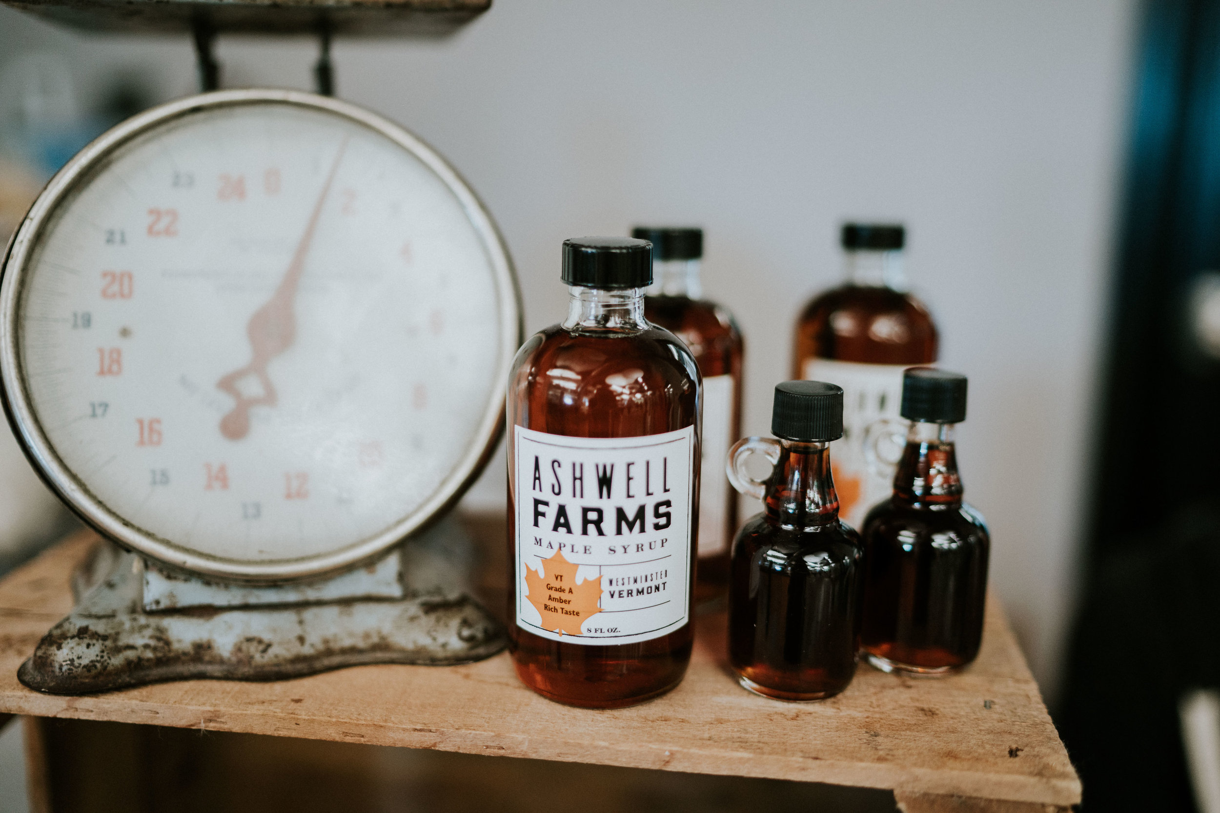 ASHWELL FARMS - Pure Vermont Maple Syrup sold locally. Maple syrup makes people happy! Proceeds from our sales at the market will go towards our friends adoption.