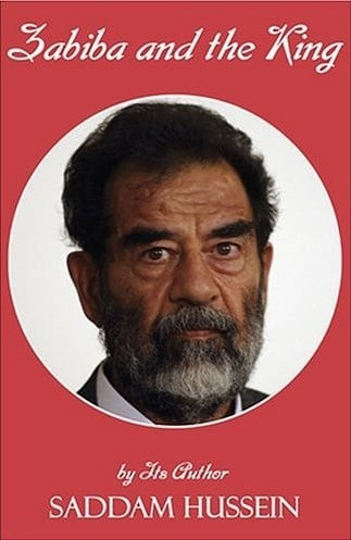 The English language version of  Zabiba  with post-arrest Saddam on the cover