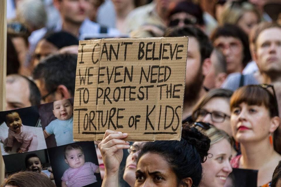 #LetThemStay Rally Sydney, Feb 9 2016. Image:Siobhan Marren