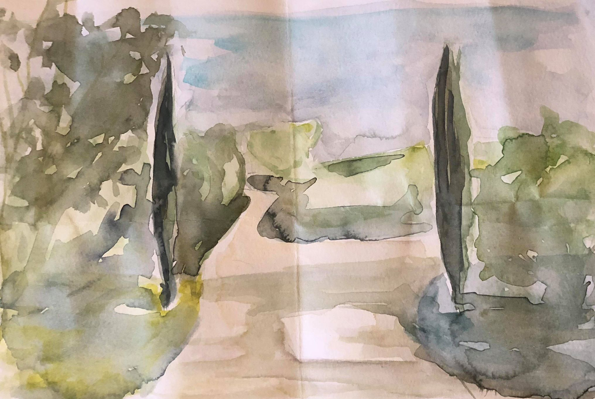 Tuscany Watercolour