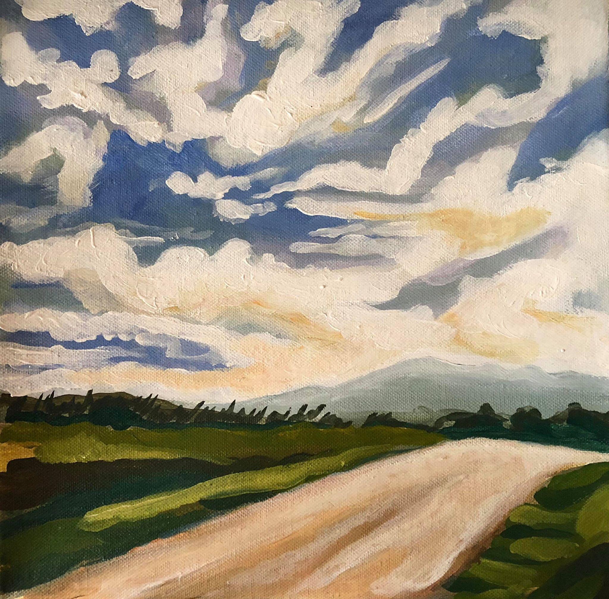 Chiusi Acrylic painting